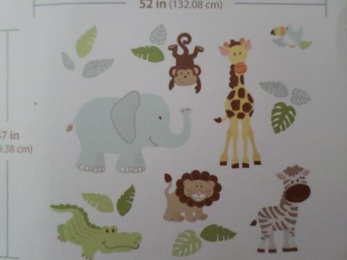 Wall Pops! For Kids Room Safari Buddies Elephant Monkey Animals Decal Sticker