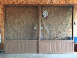 Wood garage screen door