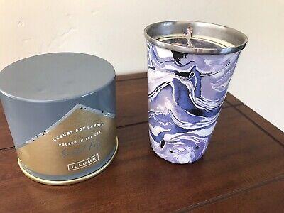 Illume Candle Santal Fig + Indica Lavender 6.7 Oz Soy Candles SET OF 2