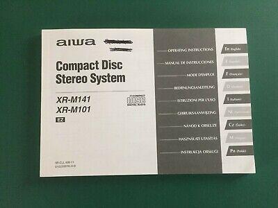 AIWA COMPACT DISC STEREO SYSTEM  -  XR-M141 / XR- M101 INSTRUCTION MANUAL segunda mano  Embacar hacia Mexico