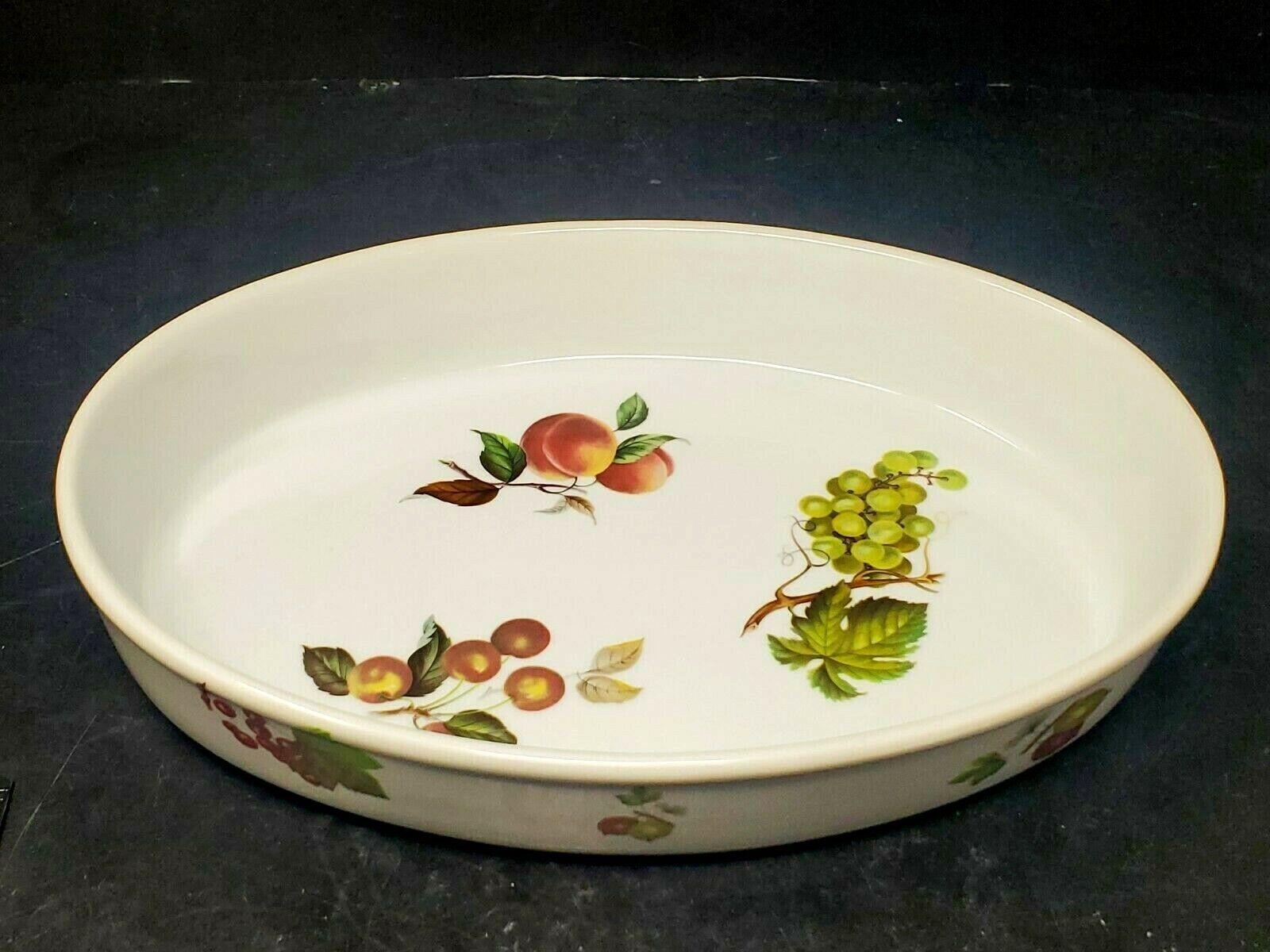 BIA Cordon Bleu Fruit Motif White Casserole Dish for Oven Fr