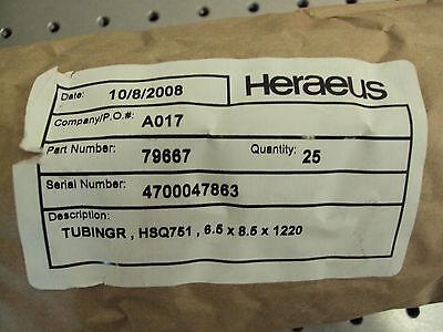 Heraeus Fused Quartz Silica Tubing 6.5mm X 8.5mm X 1220mm 4 Bundle Of 25
