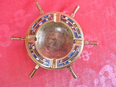 Beautiful, Antique Bronze Cup wheel-ashtray Inlays_