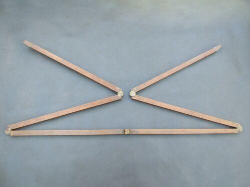 "Vintage unusual 60"" boxwood & brass 6 fold rule dip rod ruler by W Ransley"