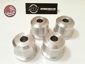 StreetRays Solid Aluminum Rear Subframe Risers Bushings 89-98 240SX S13 S14 S15