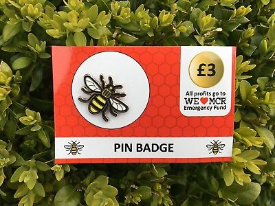 Official Manchester Bee Pin Badge 🐝 ALL PROCEEDS TO MANCHESTER RELIEF FUND