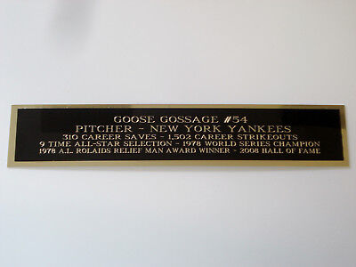 Goose Gossage Yankees Autograph Nameplate For A Baseball Bat Case 1.5 X 6