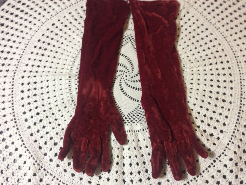 Vintage Long Nylon Gloves Made In Italy For Bergdorf Goodman
