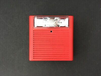 Wheelock As-24mcw Fire Alarm Hornstrobe Wall Red Qty