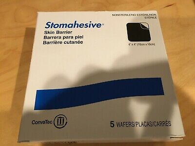 5 Convatec 21712 Stomahesive Skin Barriers 4x 4 Wafers New In Box