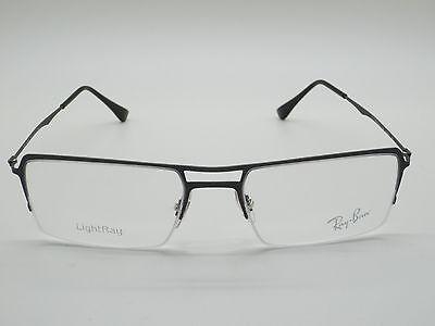 8232588ab2 New Ray Ban RB 8713 1128 Matte Gunmetal Semi-Rimless 53mm LightRay  Eyeglasses