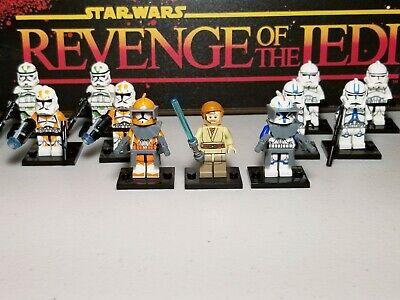 Captain REX 501st & Obi One Kenobi lot 11 minifigures clone troopers Star Wars