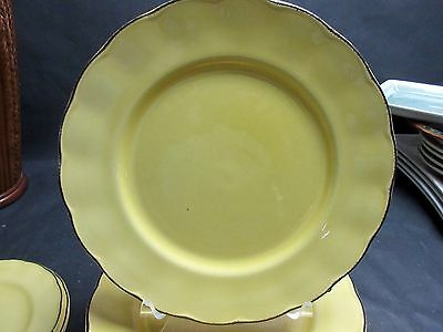 """Set of 6 GRINDLEY MODERN FASHION COLOURS 10 1/2"""" DINNER PLATES GOLD YELLOW"""