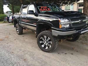 Silverado lifted with rims!! Leather/Loaded!