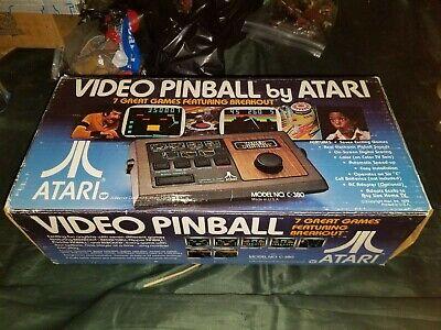 Vintage Video Pinball By Atari 1978 Wood Grain Console C-380. Manual and Box.