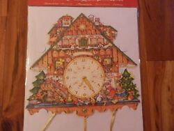 LARGE Korsch Verlag Advent Calendar BLACK FOREST CUCKOO CLOCK New 2013 14.5