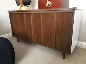 Mid Century Modern Small Buffet Walnut Look