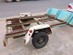 Motorbike trailer.new hitch lights spare wheel frank   Maidstone Maribyrnong Area Preview