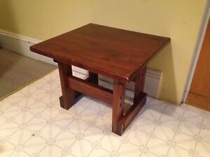 """Vintage Solid Pine End Table, 23.5"""" x 21.5"""" x 18.5""""H"""