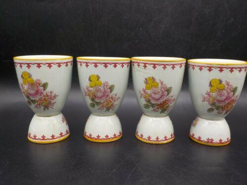 4 Vintage England Egg Cups Antique Floral English Porcelain