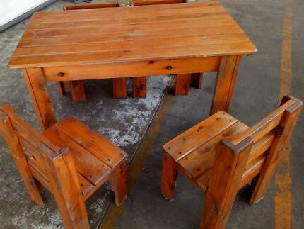 Kids solid timber tables and Chairs