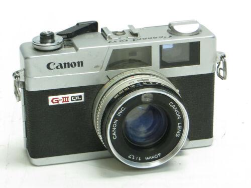 Semi-Broken Canon Canonet QL17 G-III 40mm f/1.7 Rangefinder 35mm Film Camera