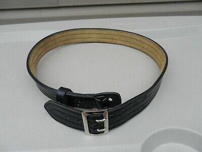Safariland Model 87 Black Leather Duty Belt Size 42 2 14 Wide Suede Lined