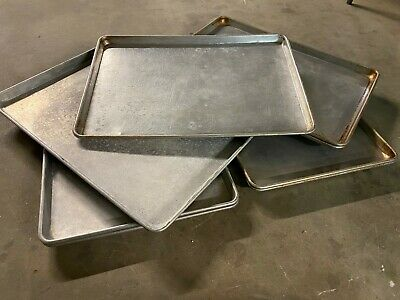 Set Of 8 Full Size 18x26 Commercial Aluminum Bakery Food Oven Sheet Pans