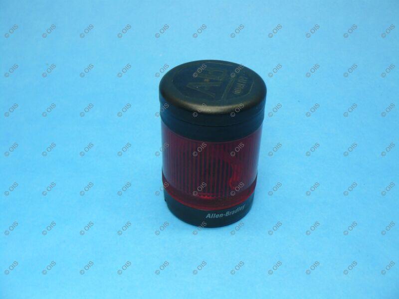 Allen Bradley 855TC-B10D4 Pre Assembled Stack Light Red Steady 120VAC W/New Bulb