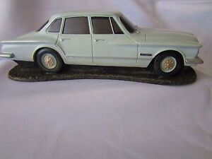 Valiant S Chrysler Arctic White Road Legends Scale Model Car Factory 2nd Damaged