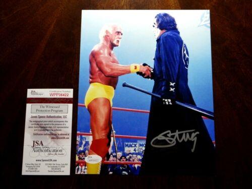 STING WCW TNA WWE SIGNED 8X10 PHOTO JSA AUTHENTICATED!!!