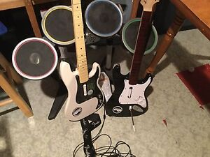 Guitars for rock band