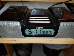 iHome iH5B AM-FM Radio Clock Speaker Dock for Iphone Ipod iH5B