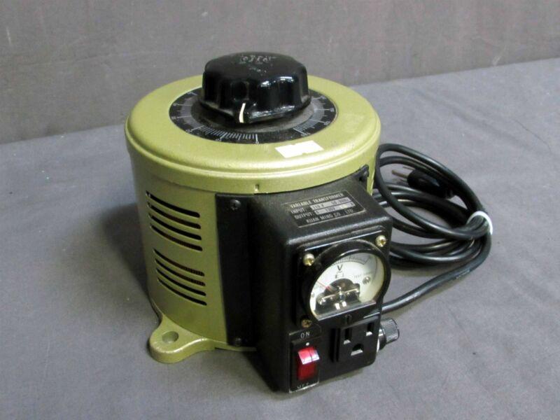 TESTED Kuan Ming Co Input 110V Output 0~130V Variable Transformer