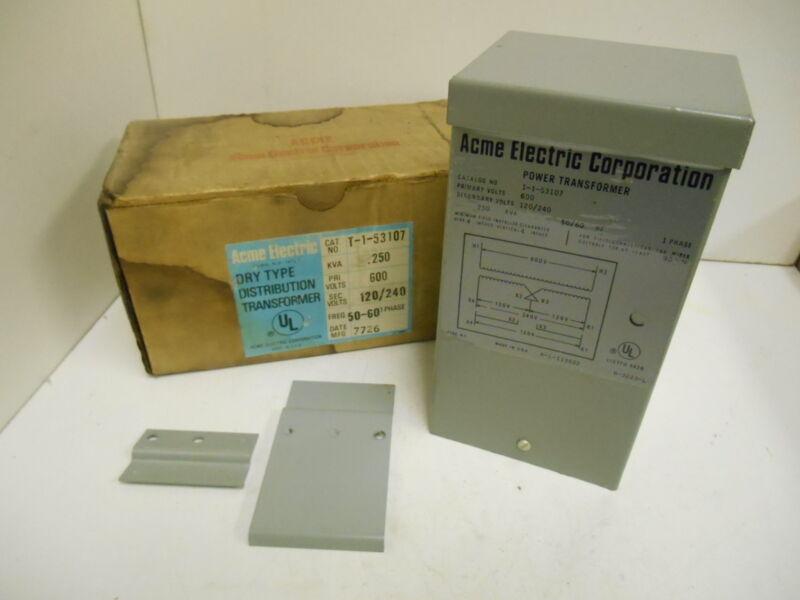 NIB Acme Electric T-1-53107 Dry Type Distribution Transformer