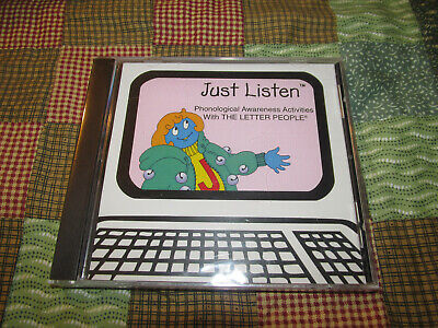 The Letter People Company A-Z Just Listen CD DISC Computer Game Kids Home