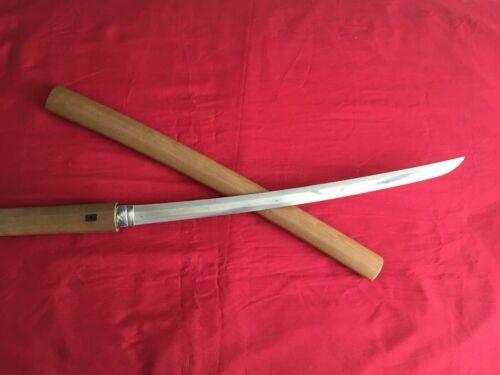 Rare Antique Authentic Japanese WAKIZASHI (sword) w/White Sheath EDO