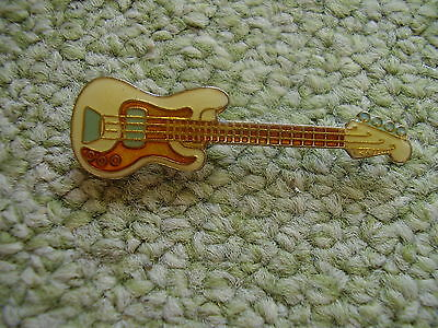 Pin Pins Ansteckpin Musikinstrument Gitarre Guitar E-Gitarre beige blau kupfer
