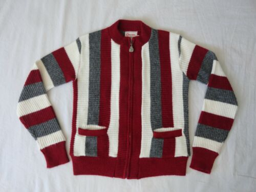 VINTAGE PEPPERMINT GRAY & WHITE STRIPED 50