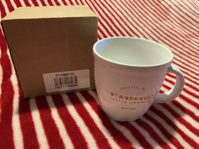 2016 Starbucks Classic Mug, White, 16 ounce New with Tag and Box