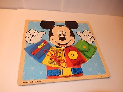 Melissa & Doug Disney Mickey Mouse Wooden Basic Skills Board Puzzle Help Dress](Melissa And Doug Basic Skills Board)