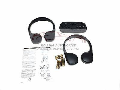 Tahoe Suburban Yukon Escalade Wireless Headphones Kit 2pc w/ DVD Remote New OEM