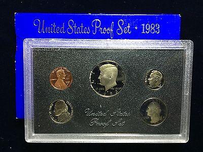 - 1983 US Mint Proof Set 5 Piece Clad Set OGP