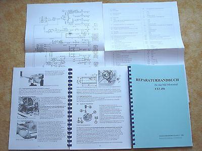 Reparaturanleitung MZ ETZ 250 A3 Schaltplan1981 Reparaturhandbuch Handbuch NEU