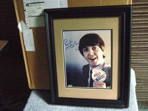 1996 BEATLES PAUL MCCARTNEY SIGNED FRAMED PICTURE COA/PSS CARDS & STARS $2500