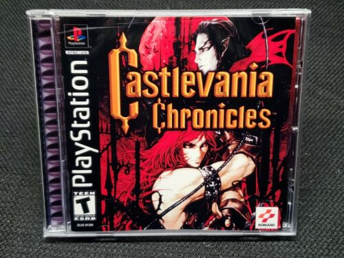 Reproduction Castlevania Chronicles (PS1) Manual, Insert and Case