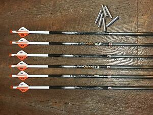 Easton Carbon Aftermath 340 Arrows  With Blazer Vanes Custom Made Set of 6