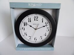 Kincaid 11.5 Inch Wall Clock with Arabic Dial Black Wood Frame Model JC805BW