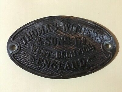 Rare Antique Safe Plaque/Plate thomas withers