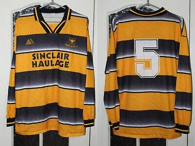 Alloa Athletic FC 1999 2000 2001 Scotland Player Issue long sleeve Shirt Jersey image
